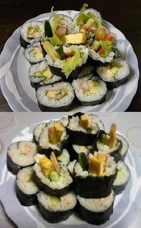 冷蔵庫にあるもので☆簡単巻き寿司