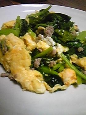 かき菜と卵の炒め物