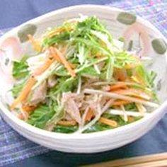 水菜とえのきのレンジ蒸しツナ和え