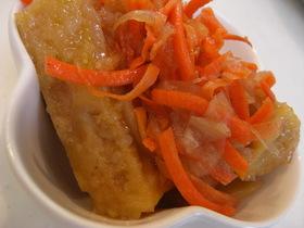 凍り豆腐の新メニュー 高野豆腐の南蛮漬け
