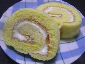 レアチーズクリームのロールケーキ