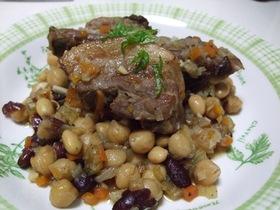 かったさんちのハーブ肉と豆のコトコト煮