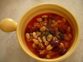 15分でおいしいお豆のトマトスープ!