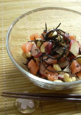 グレープフルーツとひじきの豆サラダ
