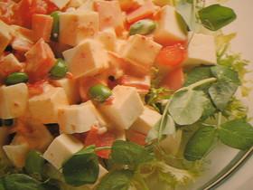 ピリカラ★豆腐とハムのサラダ
