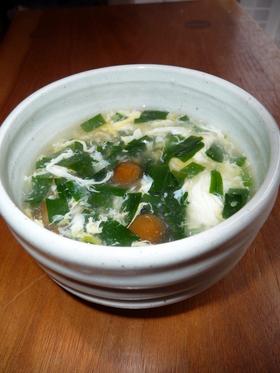 とろんとろん♪ニラたまスープ