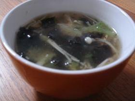 風味がいいんです☆中華風のりスープ