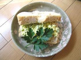 懐かしい給食の味☆卵きゅうりサンドイッチ