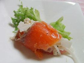 贅沢☆ホタテ貝柱&サーモンの大根サラダ