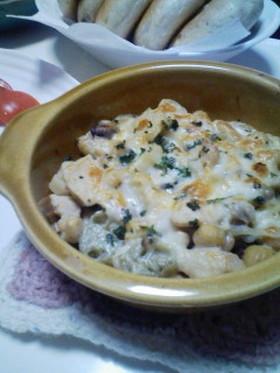 お豆とマカロニのグラタン