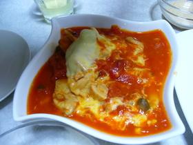 簡単☆さっぱり☆チキンのトマトチーズ煮
