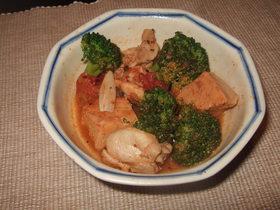 高野豆腐とチキンのトマト煮