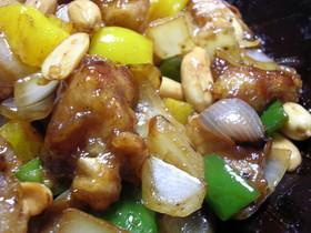鶏とピーナッツの中華炒め