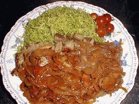ポークソテー★タマネギとマッシュルームのソース