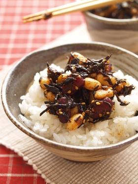 豆とひじきのササッとケチャップ炒め煮