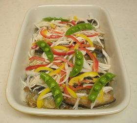 ヘルシー♪秋刀魚のカラフルマリネ