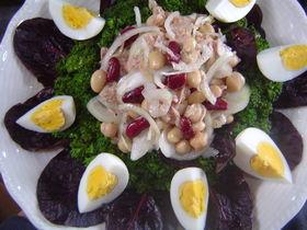 ツナ缶とお豆のサラダ