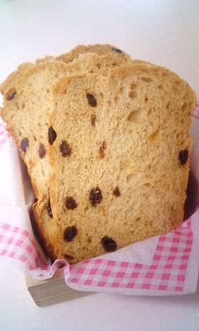 ホエーでもっちり✿黒糖✿レーズン✿食パン