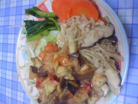 野菜たっぷり丼