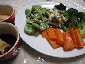 ヘルシーすぎる蒸し野菜でお腹いっぱい