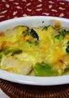 ホタテとブロッコリーの味噌マヨチーズ焼き