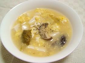 卵と豆腐の中華スープ サンラータン*