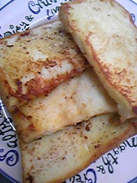 シナモン風味のフレンチトースト