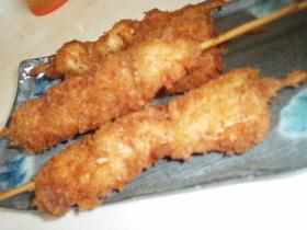 ふっくらジューシ~な鶏串カツ!!うまいよ
