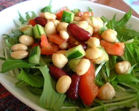 豆のカレー風味サラダ