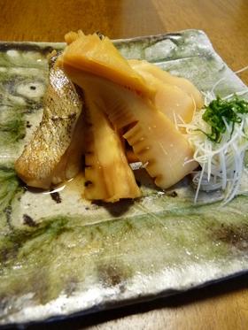 筍と切り身魚の煮付け