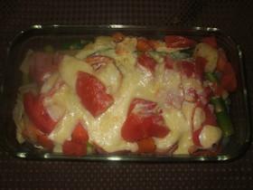 トマトと春野菜のマヨネーズ焼き