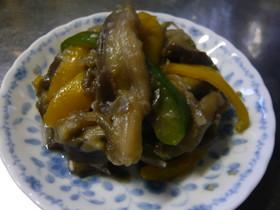 ノンオイル茄子の味噌炒め