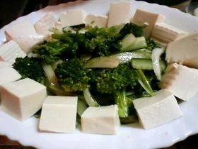 豆腐と春野菜のヘルシーサラダ