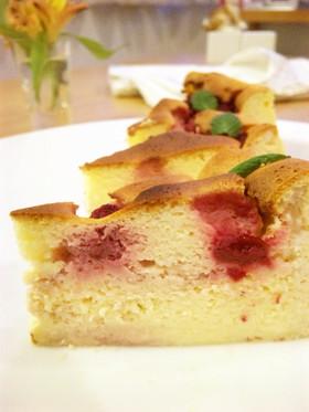 ラズベリー♡スフレチーズケーキ