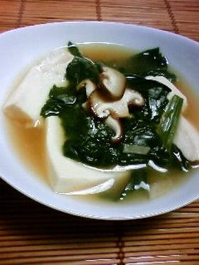 豆腐とほうれん草のとろとろスープ