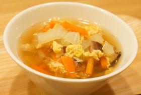 白菜の卵スープ