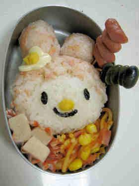 キャラ弁★マイメロディ 可愛い鮭弁当♪