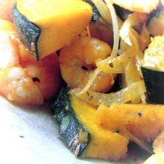 洋風☆エビとカボチャのマヨネーズサラダ