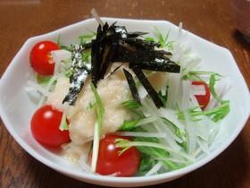 『大根と水菜のトロトロサラダ』