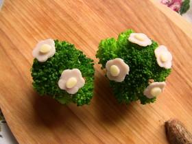 お弁当に*お花が咲いたブロッコリー