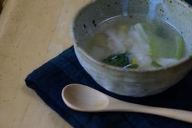 お肉なし簡単ワンタンスープ