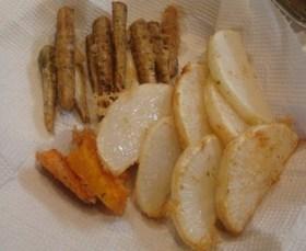 たこ焼き粉で野菜の天ぷら( *゜∇)/☆
