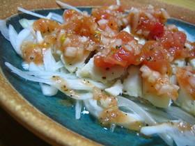 白身魚のポワレ☆トマトマリネ風