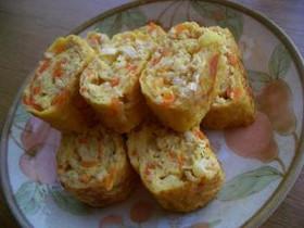 美味しい!鶏挽肉とにんじんの卵焼き☆ミ