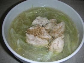 鶏エキス入り春雨スープ