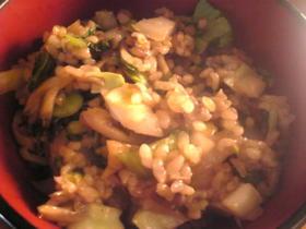 ほや貝と青梗菜の炒飯