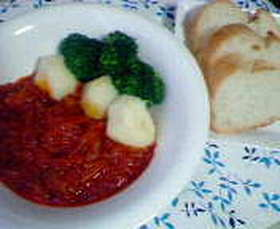 簡単に出来るチキンのトマト煮