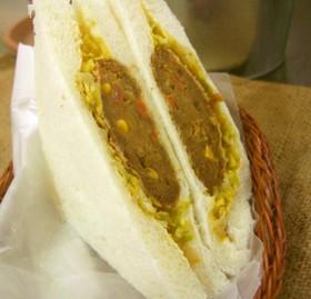 残りカレー→コロッケ→サンドイッチ♪