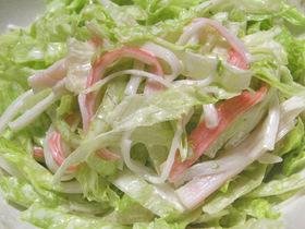シンプル1番かにかまレタスサラダ