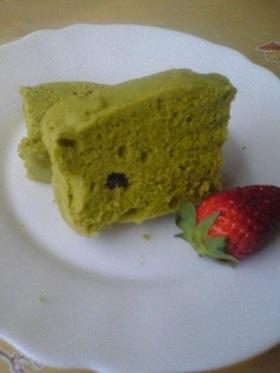 今からすぐに♡レンジで抹茶蒸しケーキ